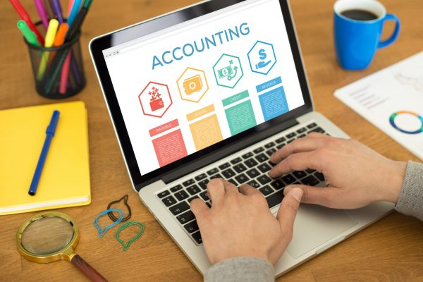Accounting Payable Savings Credit Revenue Word With Icons